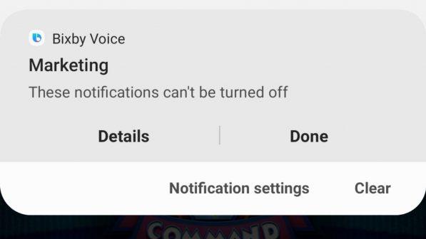 Spam Note 10 Samsung