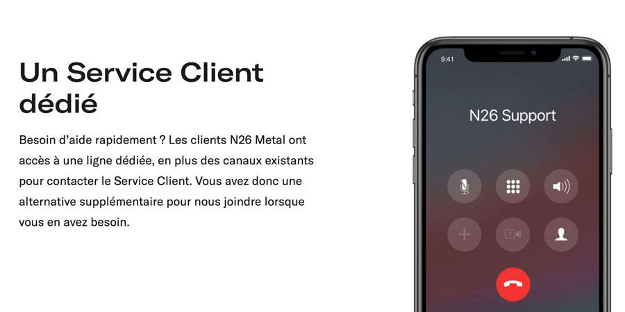 Support client N26 Metal