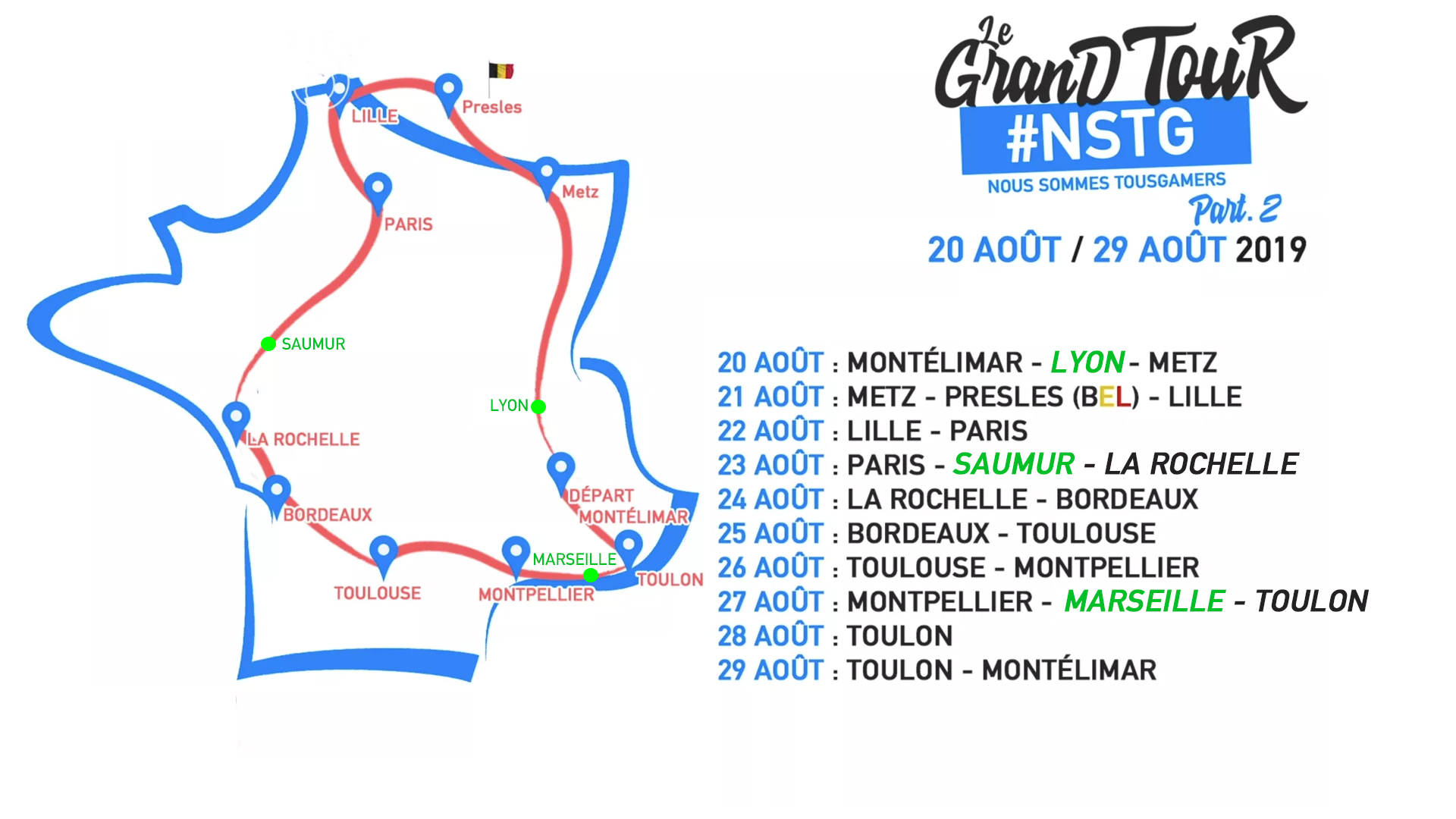 Grand Tour #NSTG Part.2 Trajet