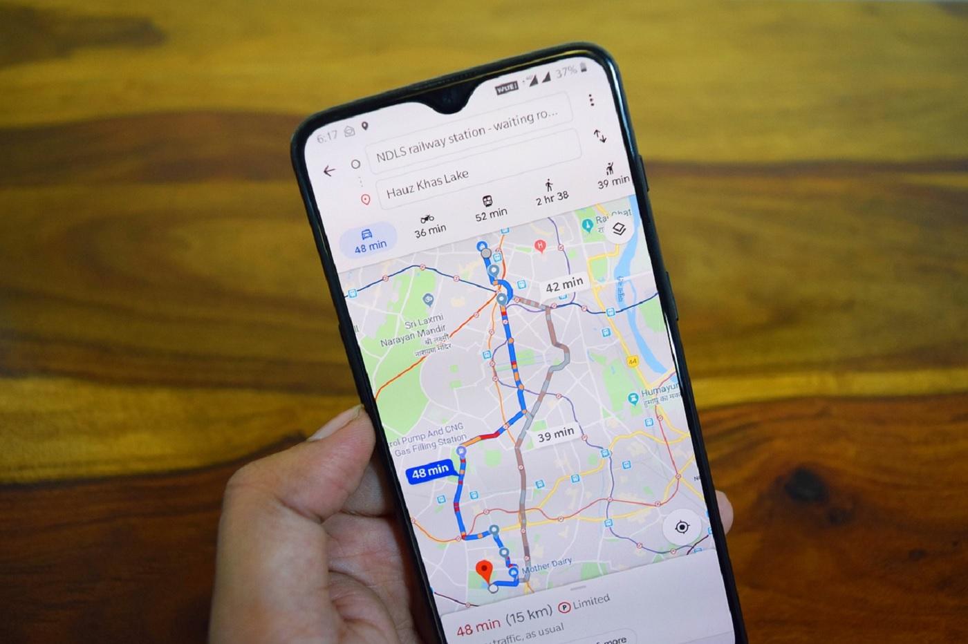 Google Maps sur un smartphone Android