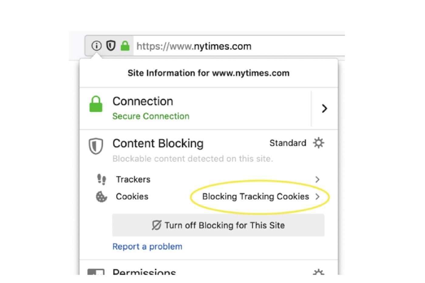 Le blocage de cookies sur Mozilla