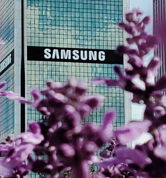Le logo de Samsung sur un batiment