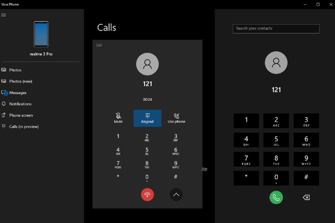 Les appels téléphoniques sur Windows 10