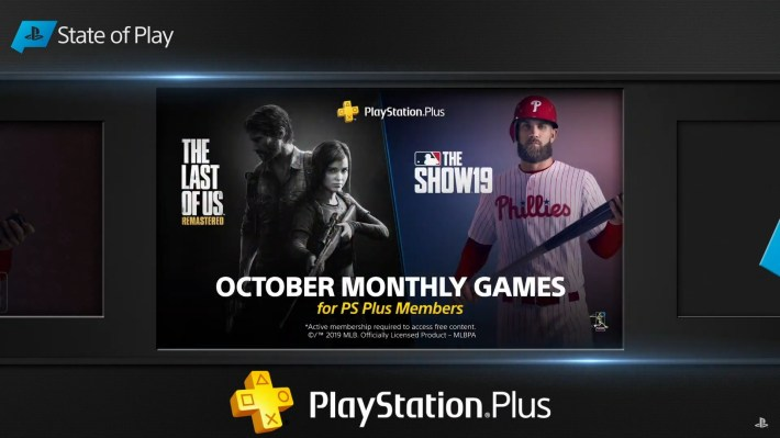 Jeux PS Plus Octobre MLB The Show The Last Of Us Remastered
