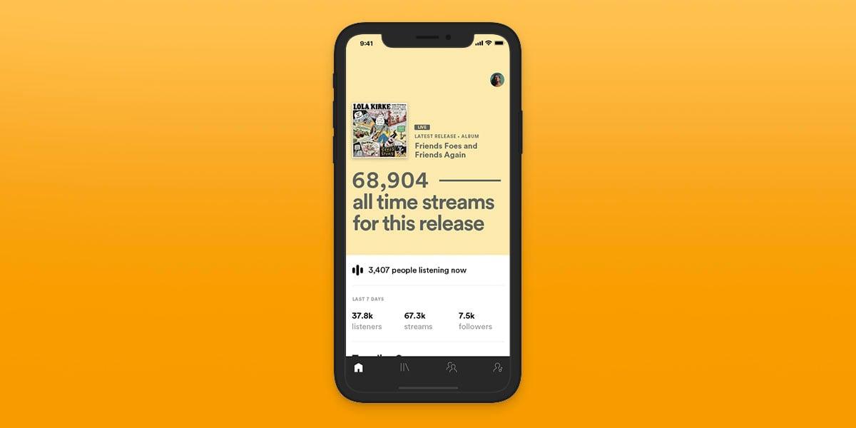 Statistiques Temps Reel Spotify