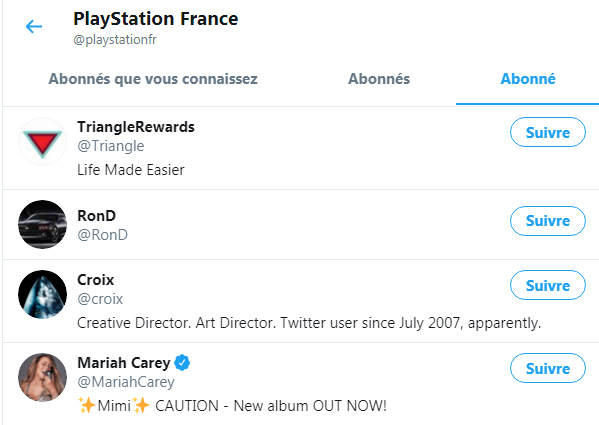 Compte Twitter PlayStation France