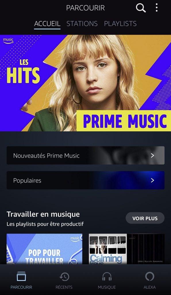 Amazon Music design mobile