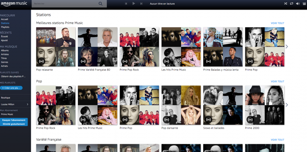 Stazioni Amazon MusicServizi streaming musica