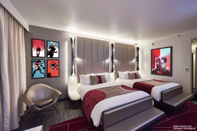 Chambre Hôtel New York The Art of Marvel