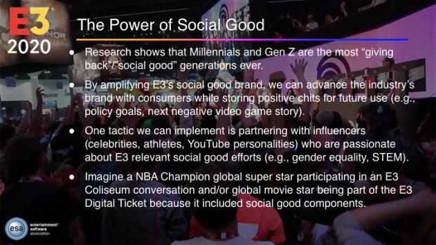 E3 2020 stratégy