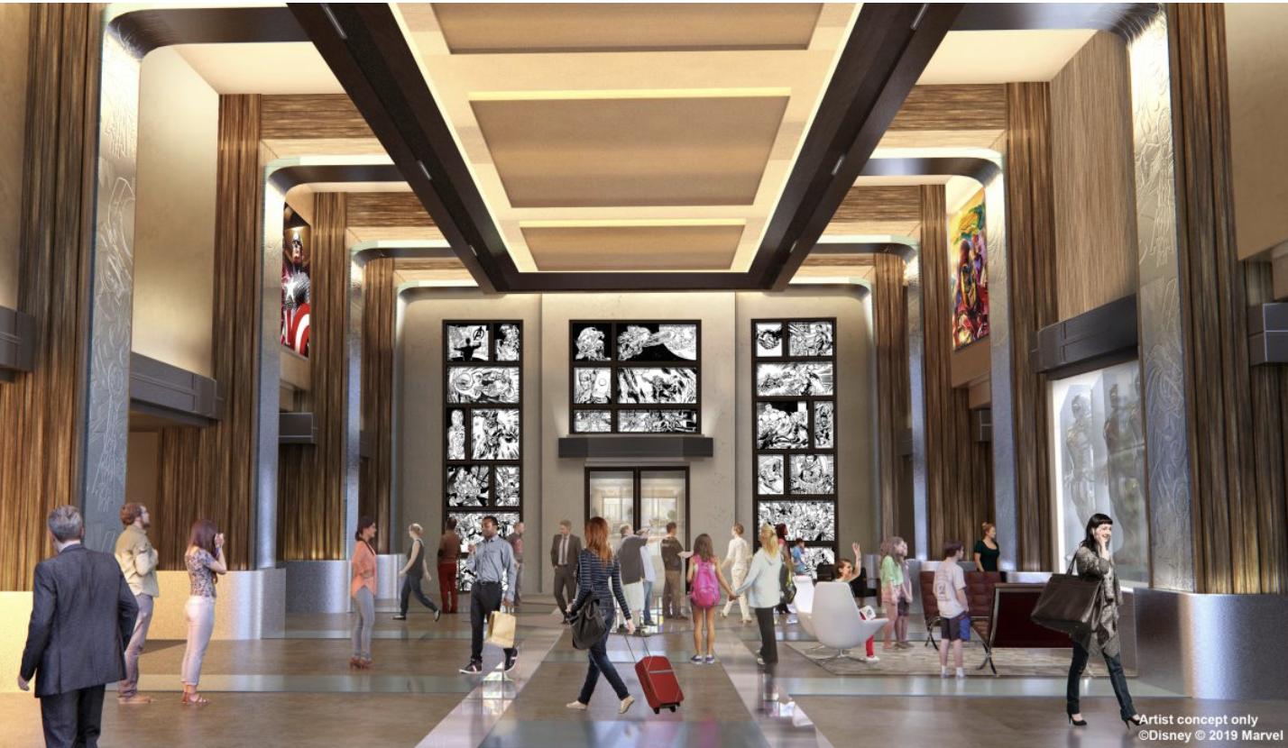 Hall Hôtel New York The Art of Marvel