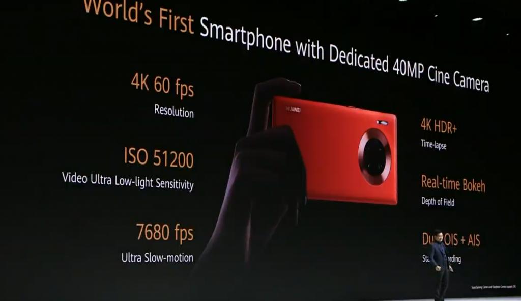 Huawei Mate 30 et Mate 30 Pro video