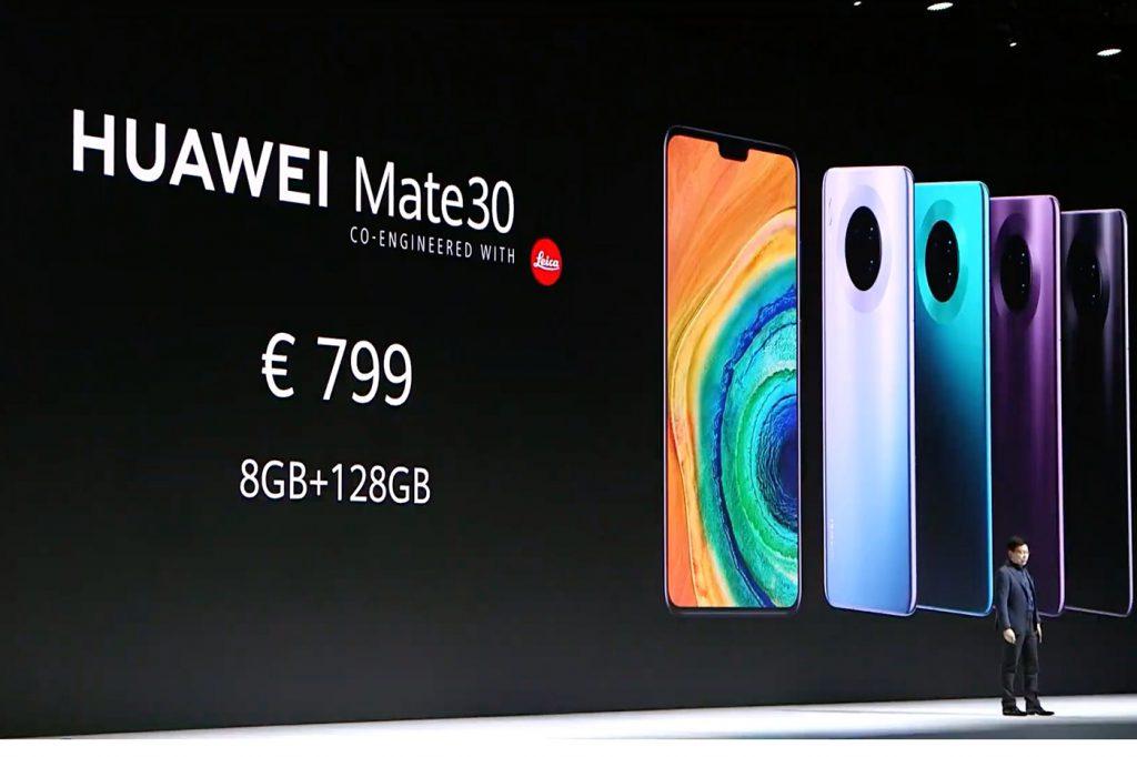 Huawei Mate 30 prix
