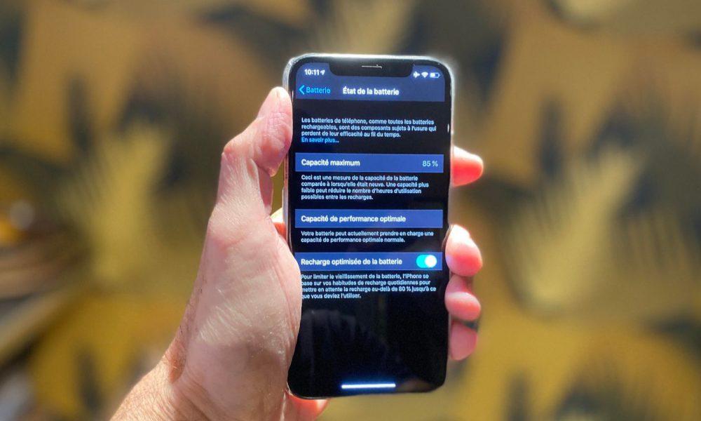 Batterie iOS 13