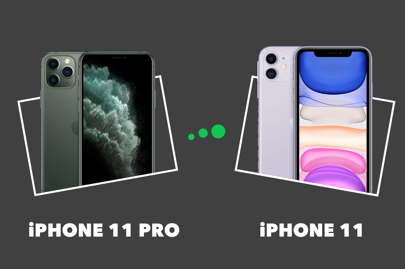 Comparatif iPhone 11 Pro vs iPhone 11
