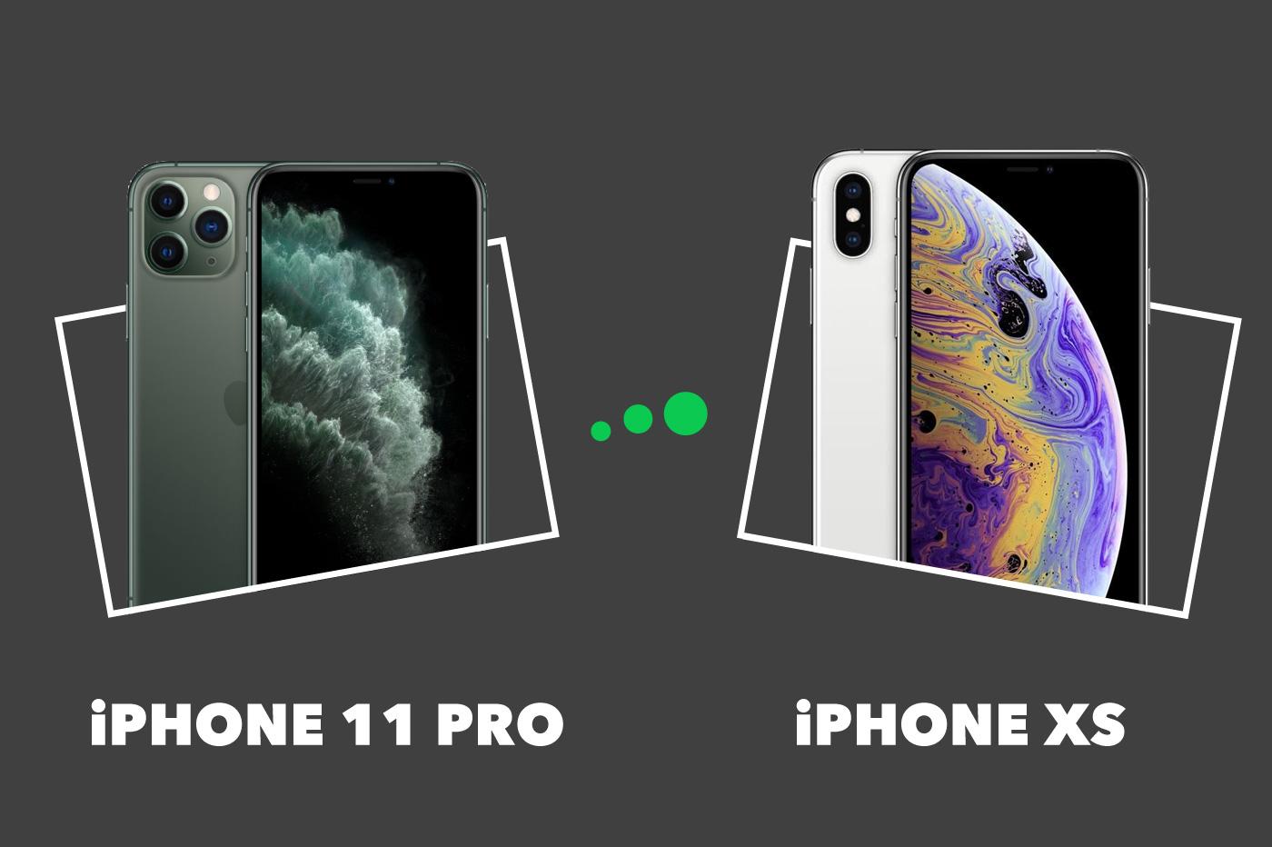 Comparatif iPhone 11 Pro vs XS