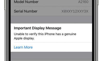 iPhone 11 et message à propos de l'écran