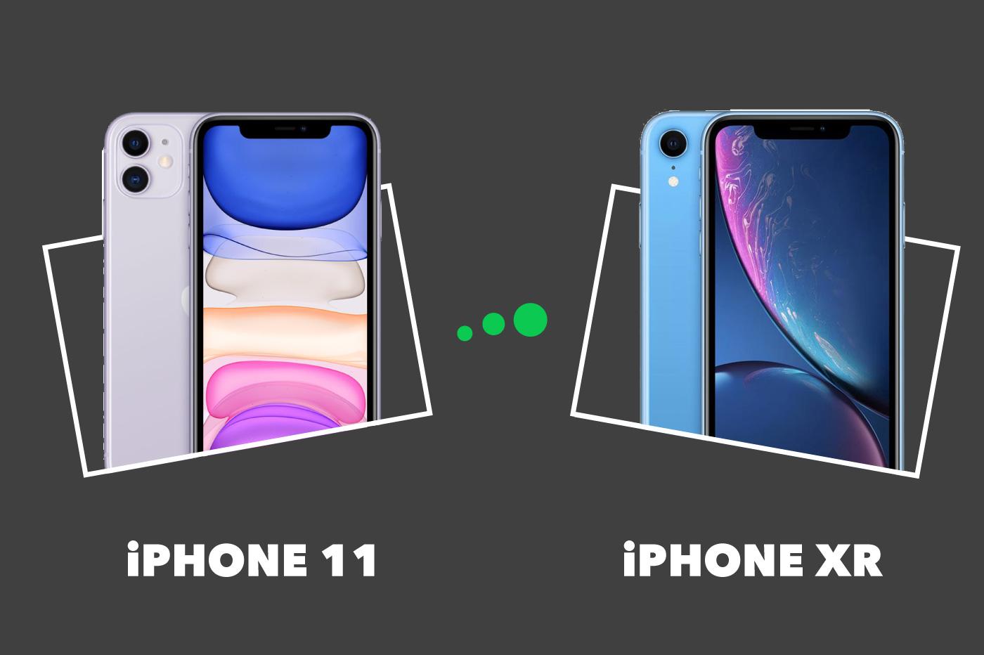 Comparatif iPhone 11 vs iPhone XR
