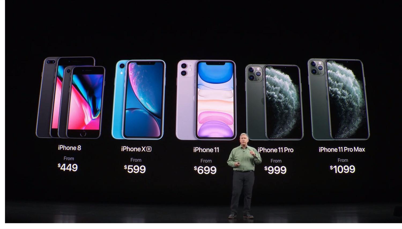 Prix iPhone 11 et iPhone 11 Pro