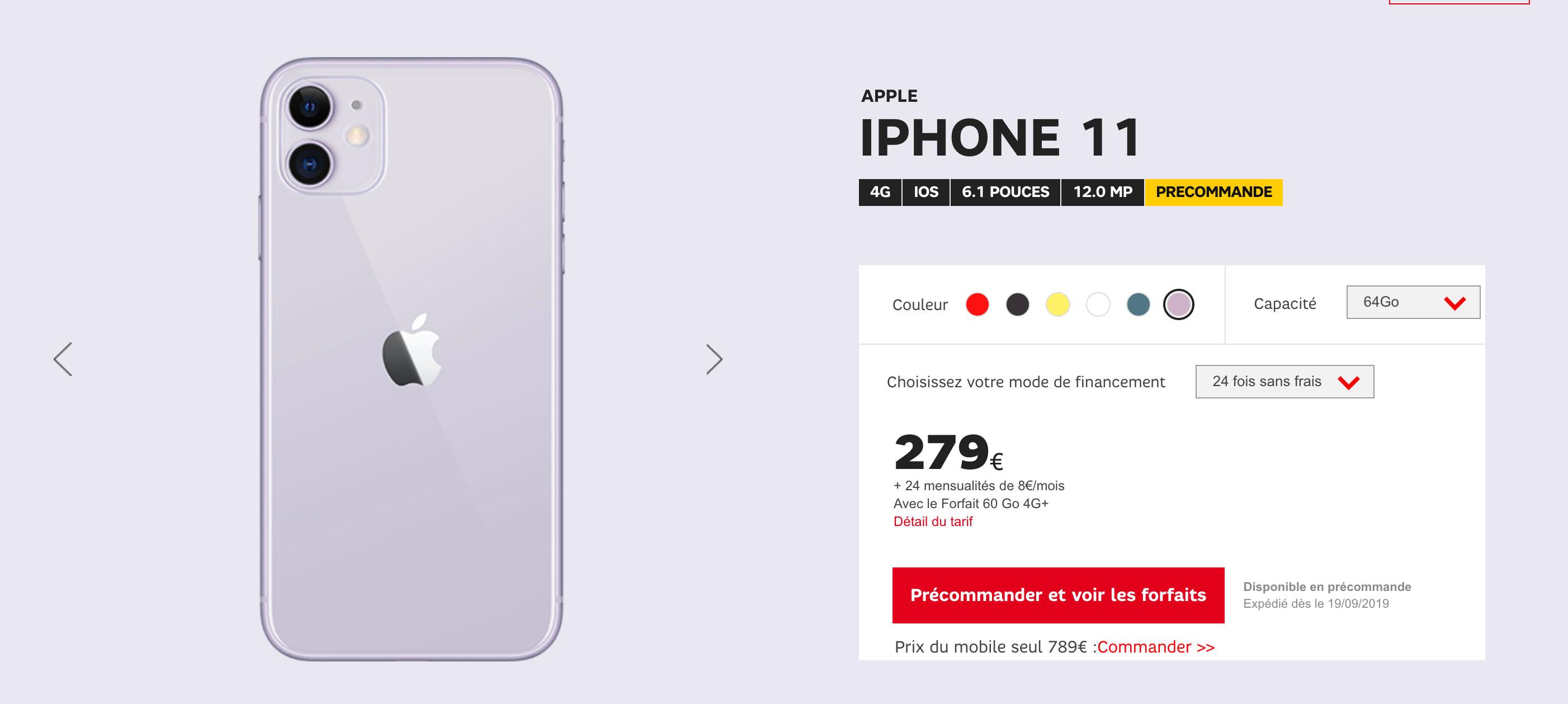 iPhone 11 SFR