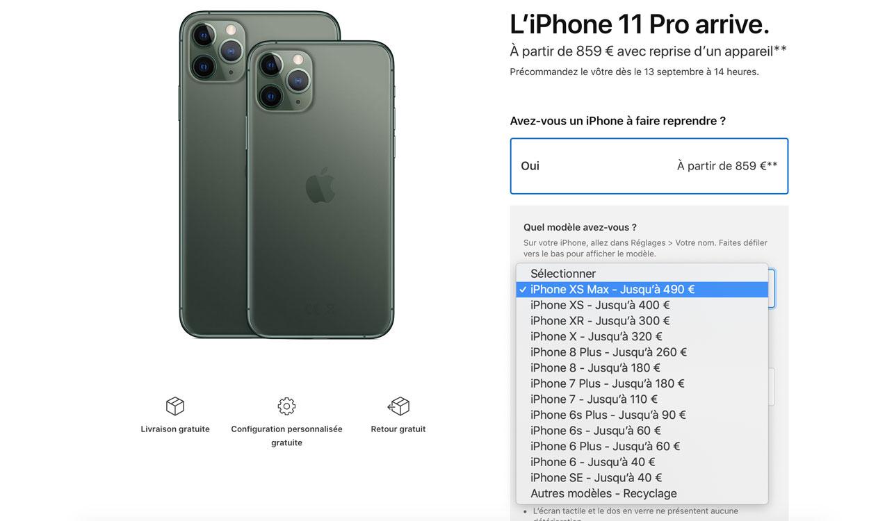 Remboursement iPhone XS
