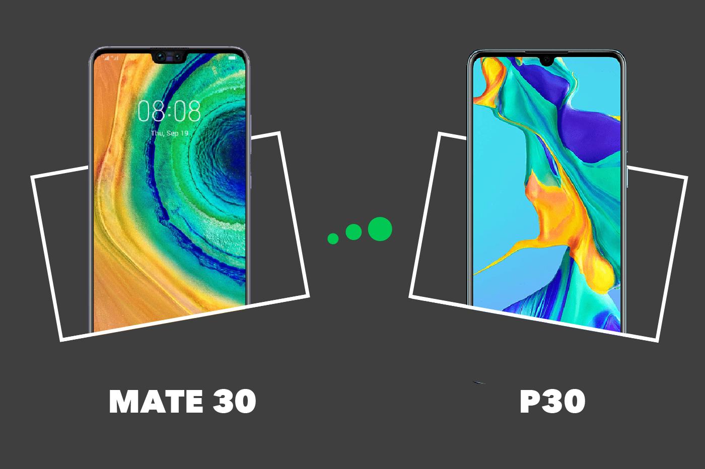 Huawei Mate 30 vs P30