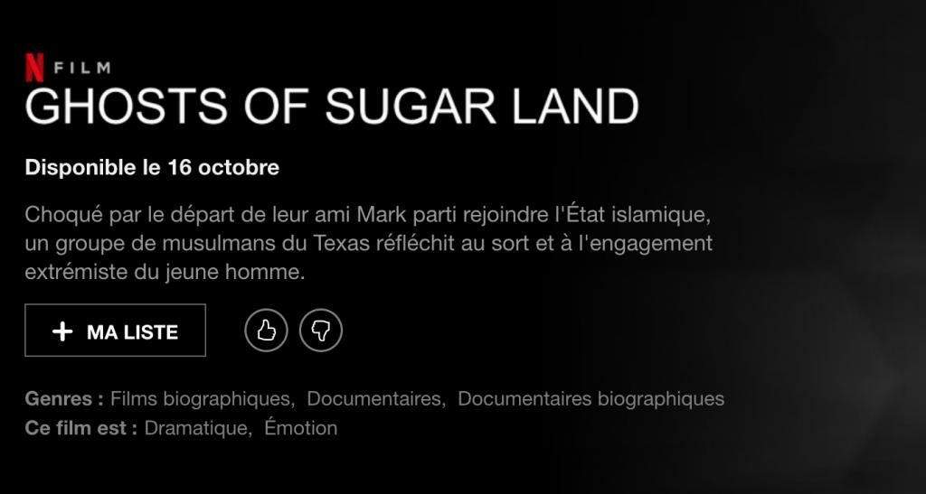 Netflix Ghosts og Sugar Land