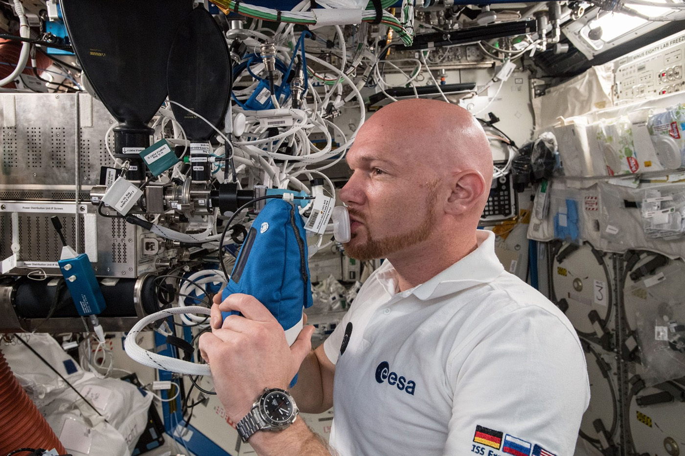 Astronautes respiration