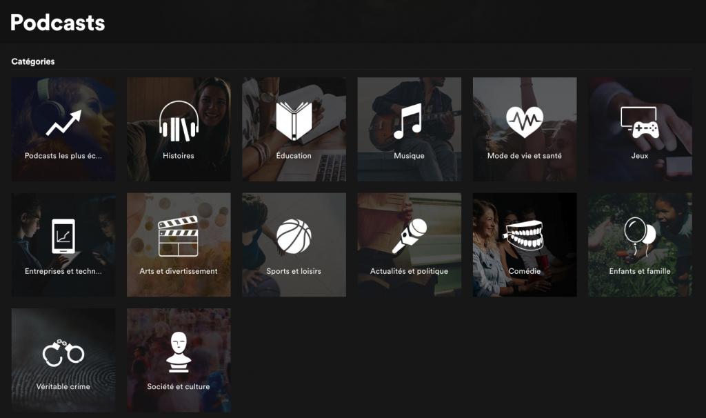 Progettazione podcast di Spotify