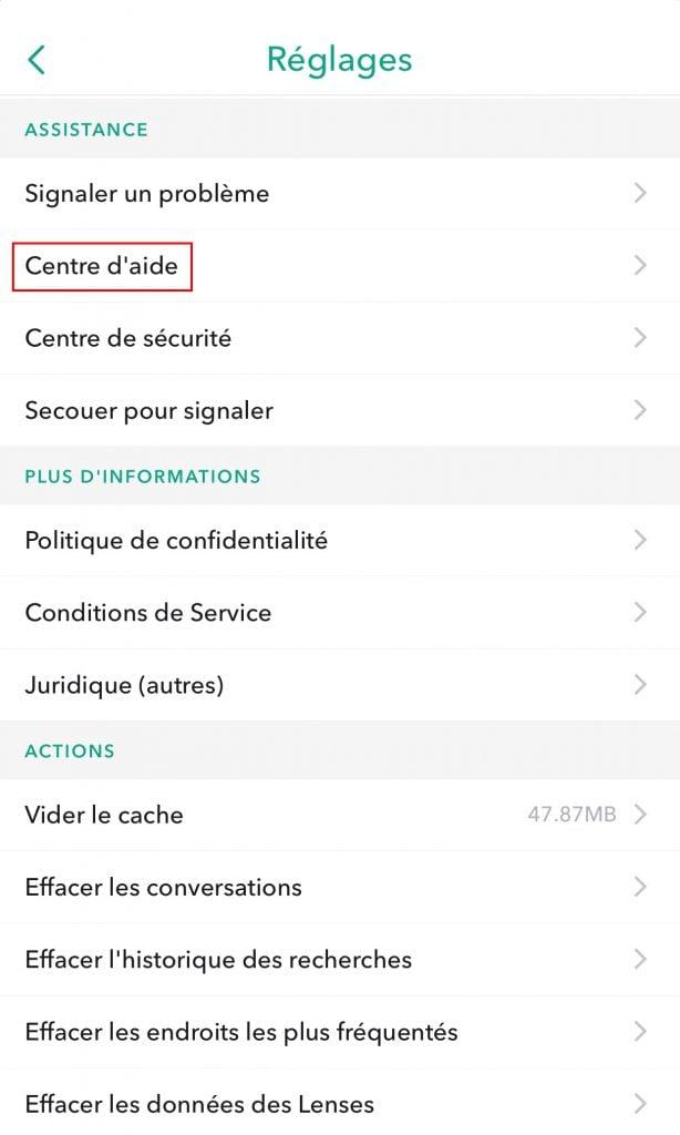 Radera Snapchat-kontots hjälp