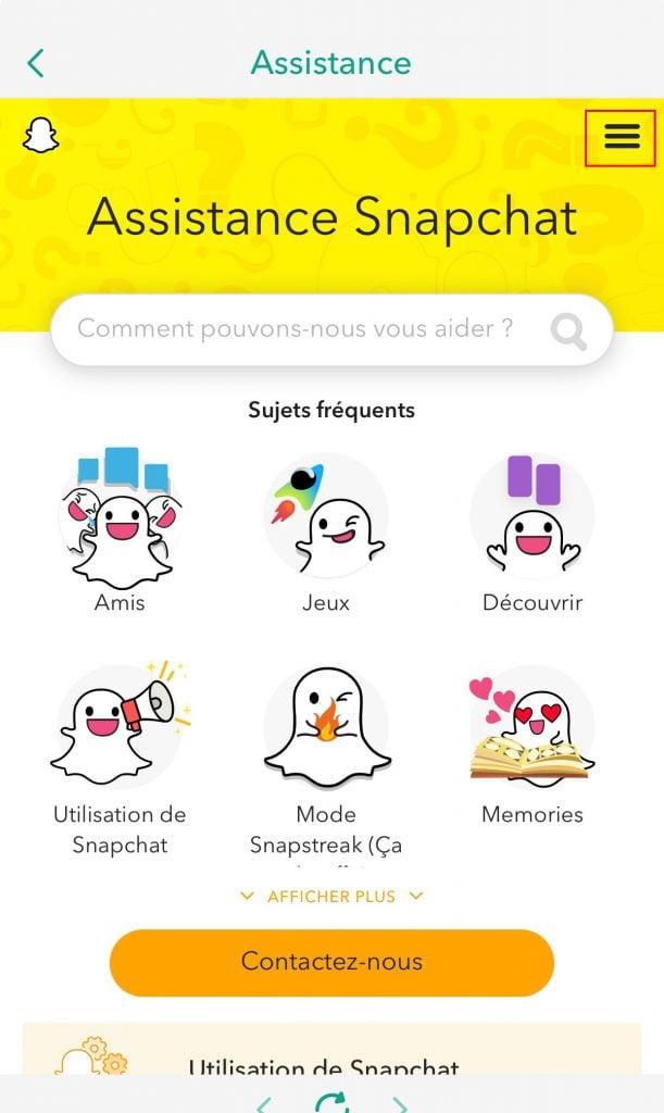 Ta bort snapchat-supportkonto