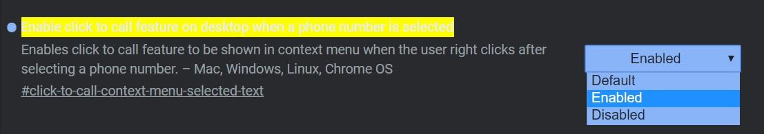 Activez les appels téléphoniques depuis Chrome