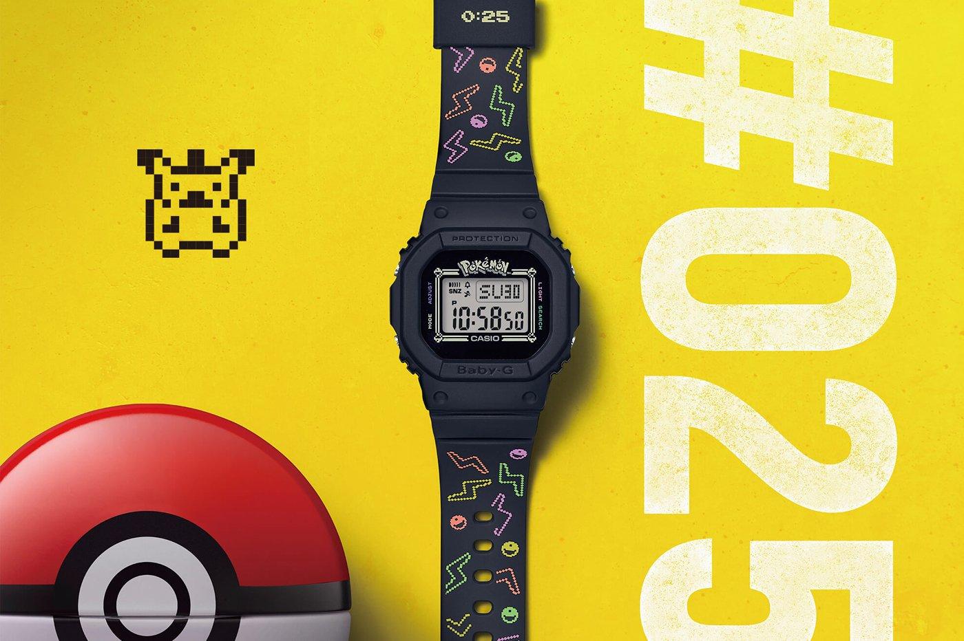 La monte Casio G-Baby édition Pokémon