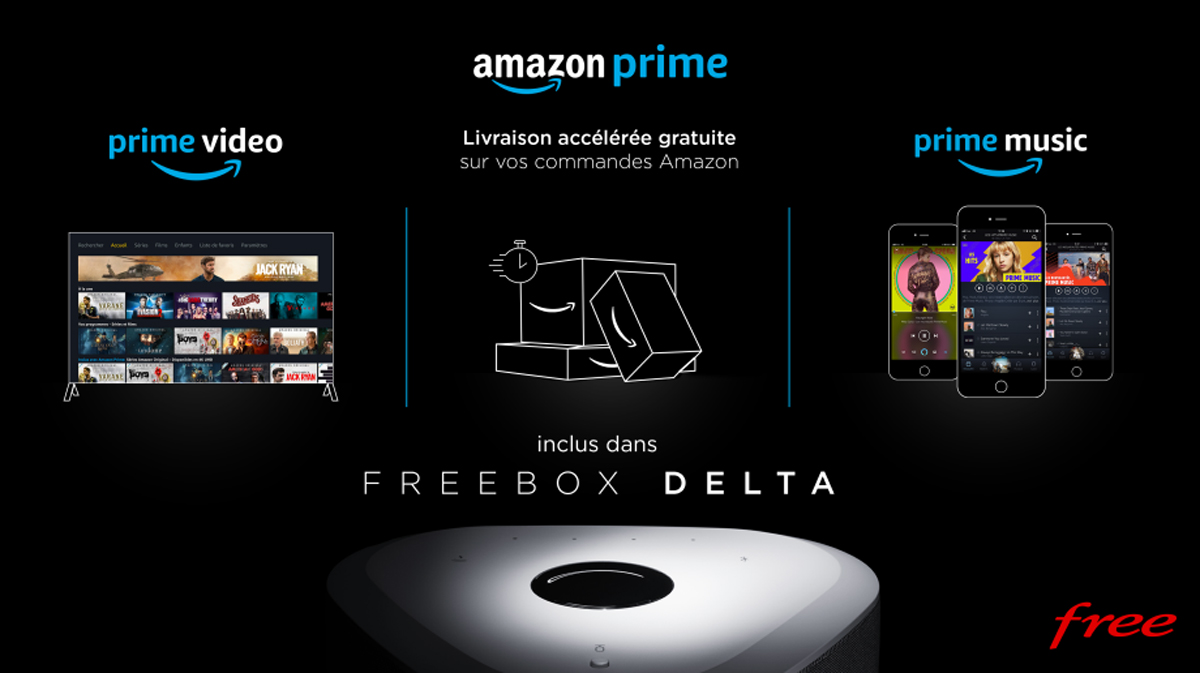 Amazon Prime inclut dans le forfait Freebox Delta