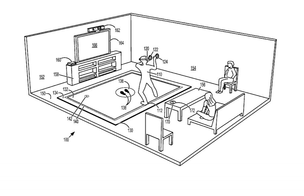Le brevet de Microsoft pour un tapis pour la réalité virtuelle