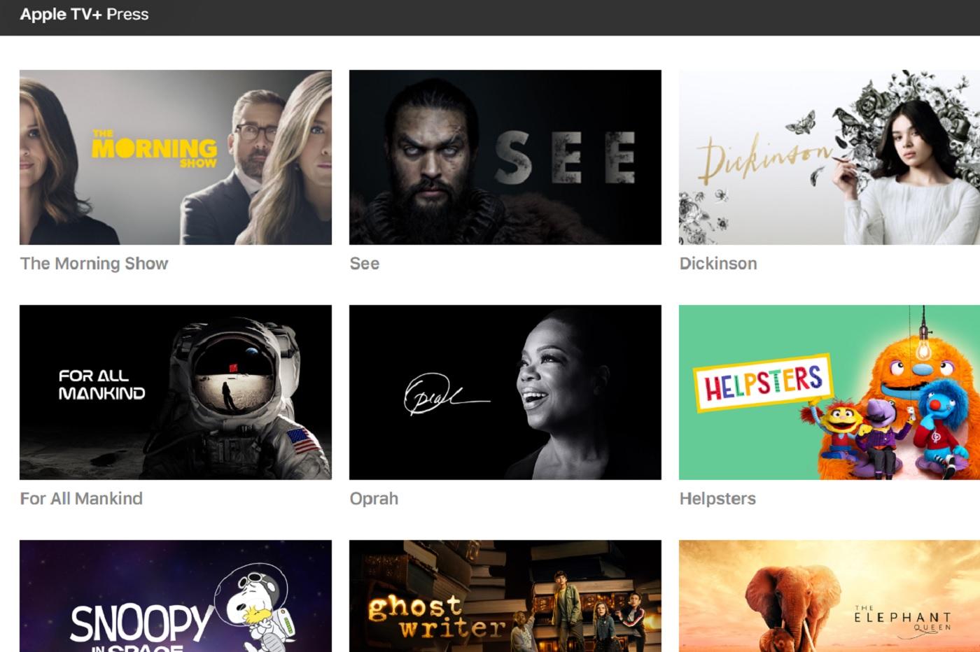 Le site presse d'Apple TV+