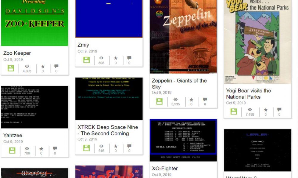 Les jeux MS-DOS sur Internet Archive