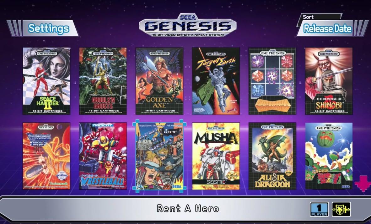 Interface Genesis Mega Drive Mini
