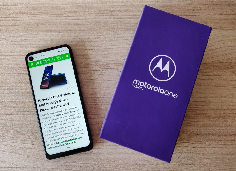 Test du Motorola One Vision Android One