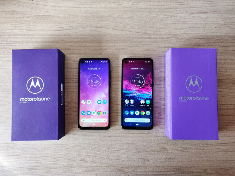 Les Motorola One Vision et One Action