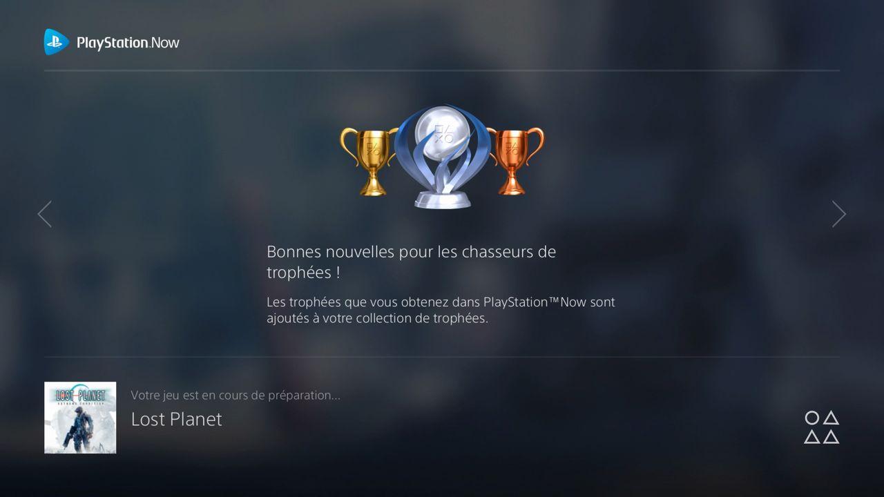 Trophées PS Now