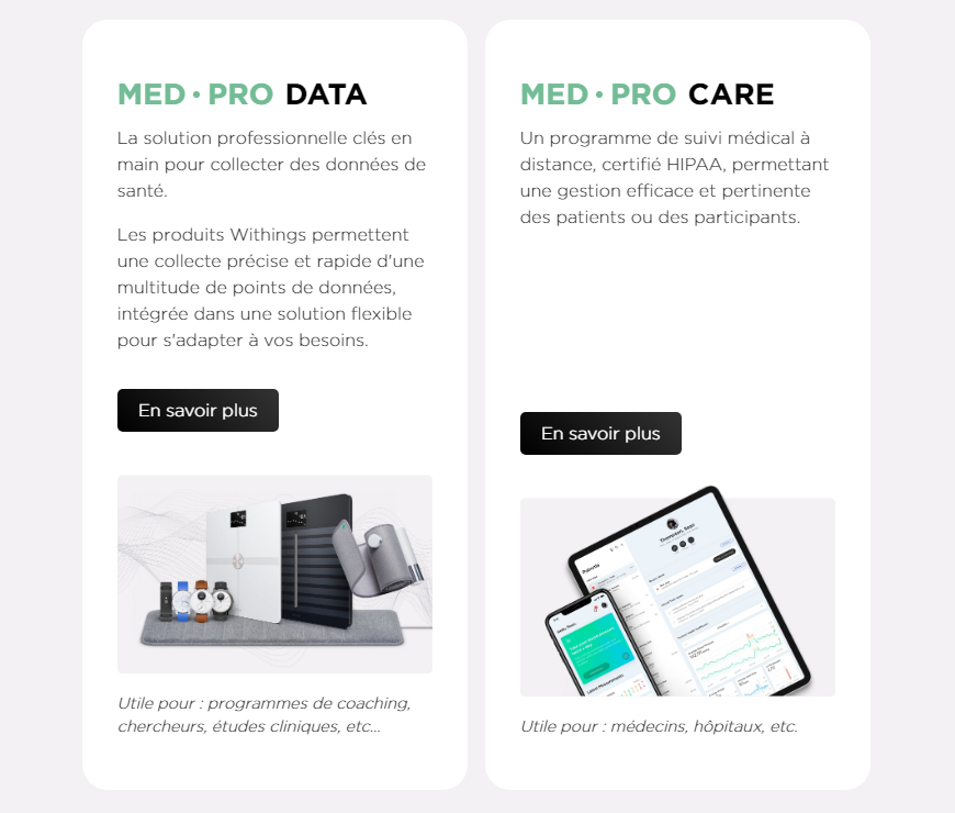 La solution B2B Withings MED PRO