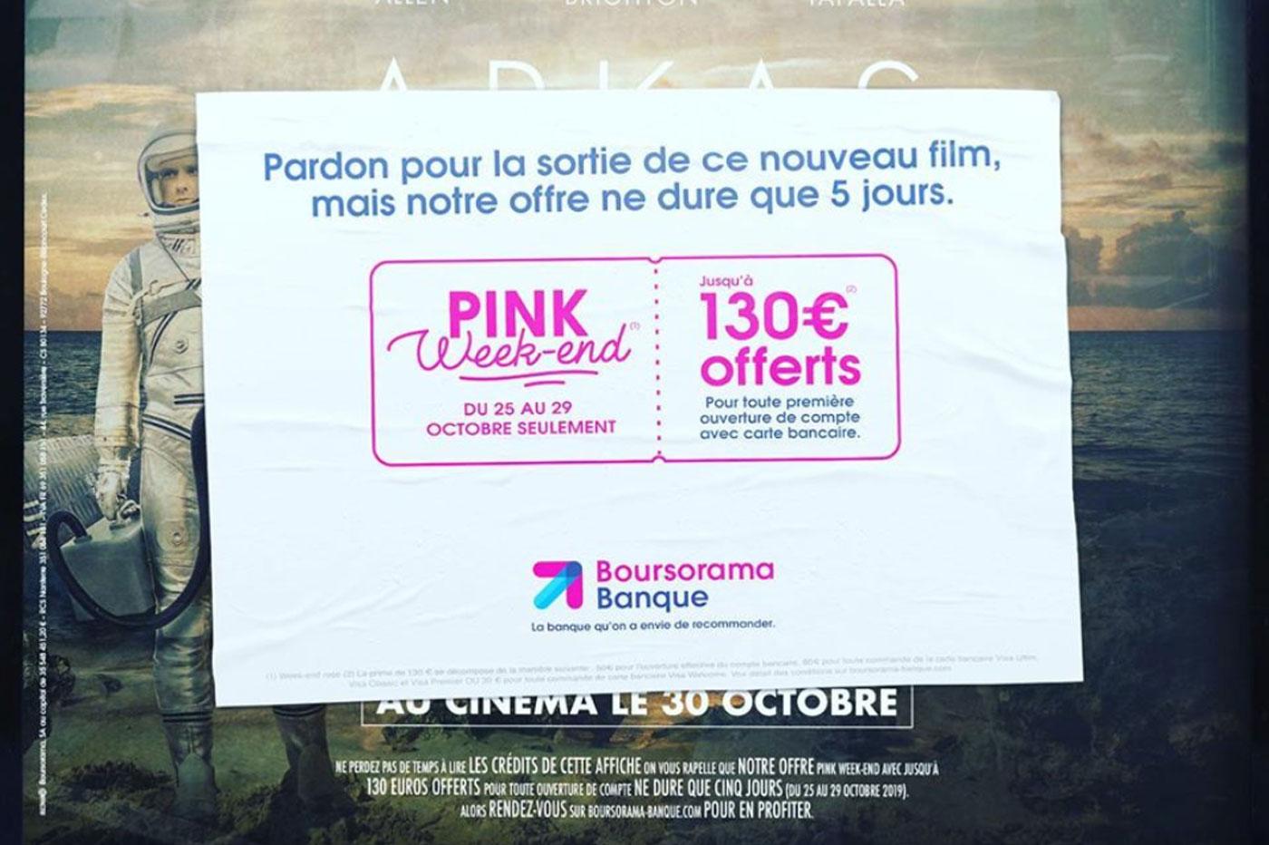 Boursorama Pink Week-end