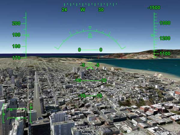 Google flight simulator