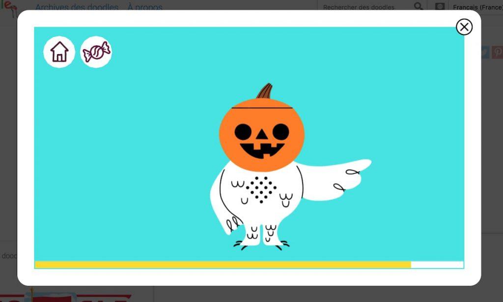 Google Halloween 2019 jeu
