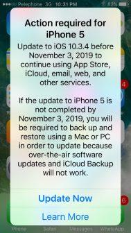 alerte iOS apple