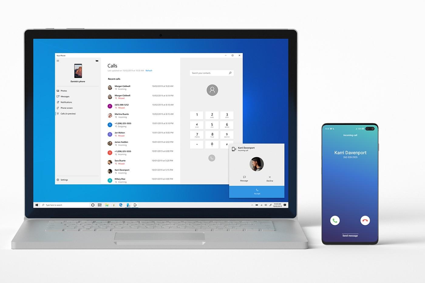 Your Phone permet désormais de répondre à des appels sur son PC