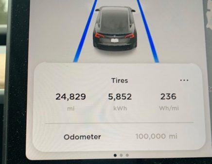 Model 3 Tesla kilometrage