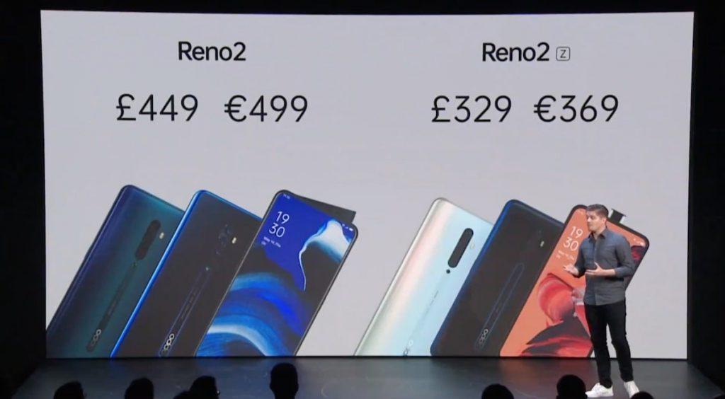 Oppo Reno 2 prix