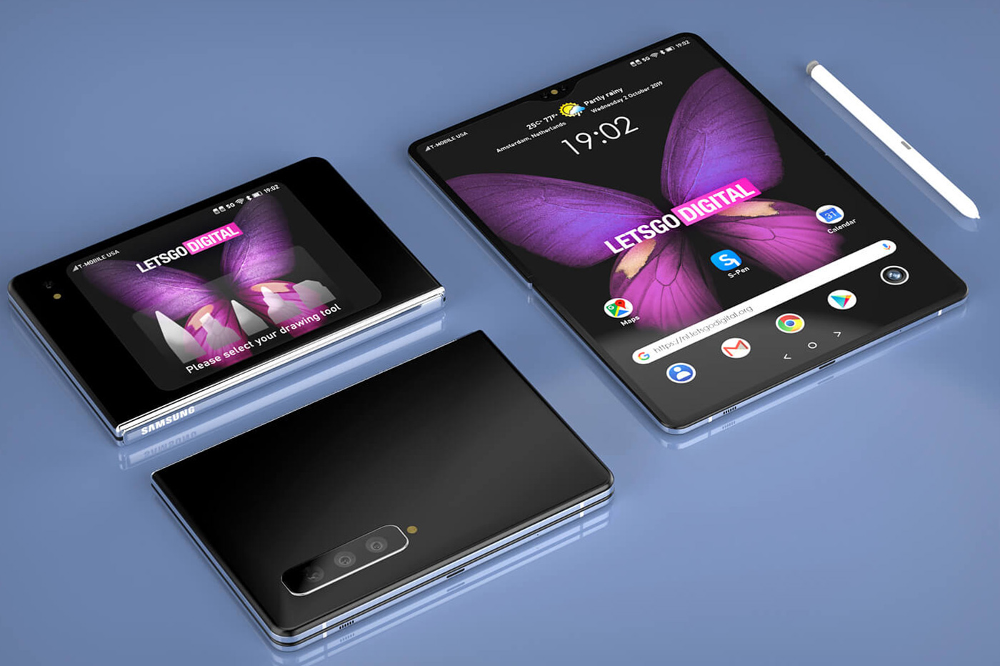 Samsung S-Pen smartphone pliable